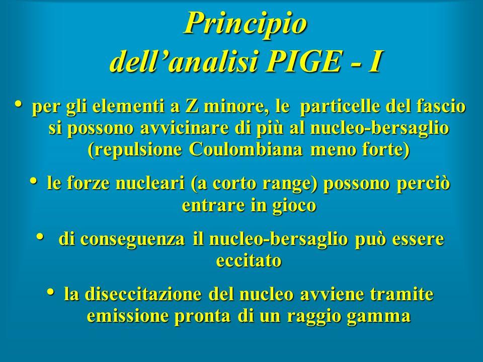 Principio dell'analisi PIGE - I