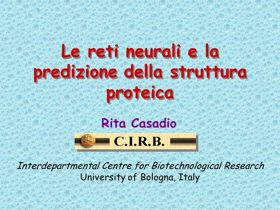 Le reti neurali e la predizione della struttura proteica