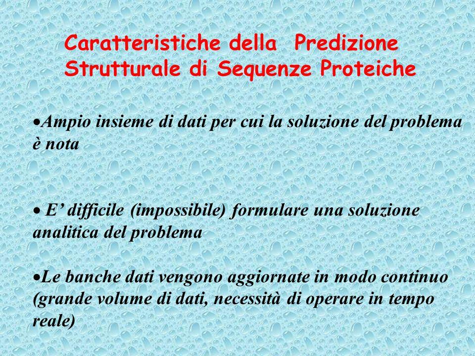 Caratteristiche della Predizione Strutturale di Sequenze Proteiche