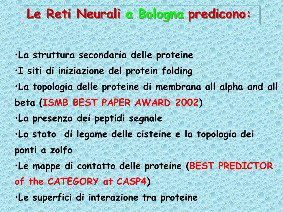 Le Reti Neurali a Bologna predicono: