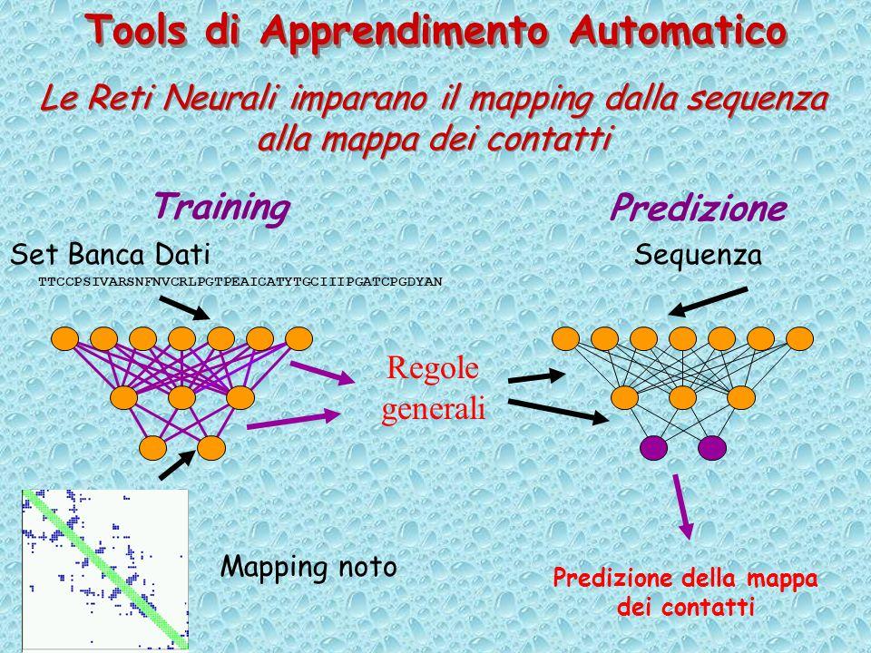 Tools di Apprendimento Automatico Predizione della mappa dei contatti