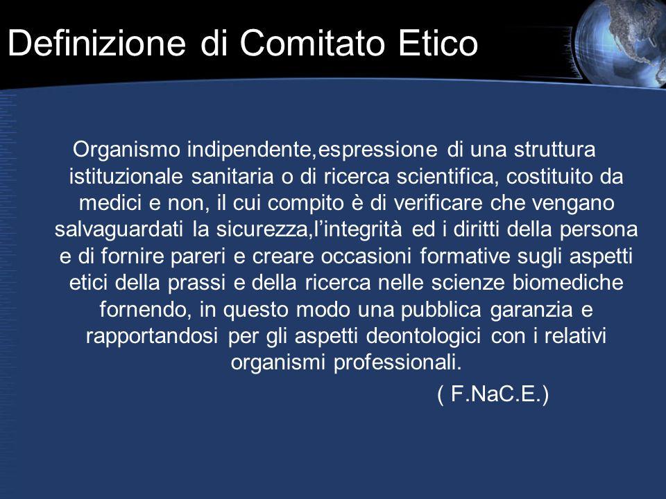 Definizione di Comitato Etico