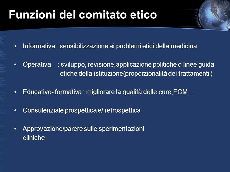 Funzioni del comitato etico