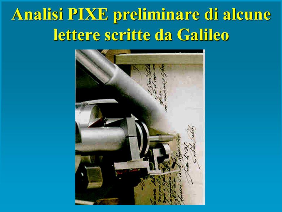 Analisi PIXE preliminare di alcune lettere scritte da Galileo