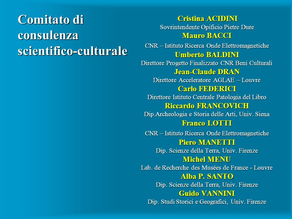 Comitato di consulenza scientifico-culturale