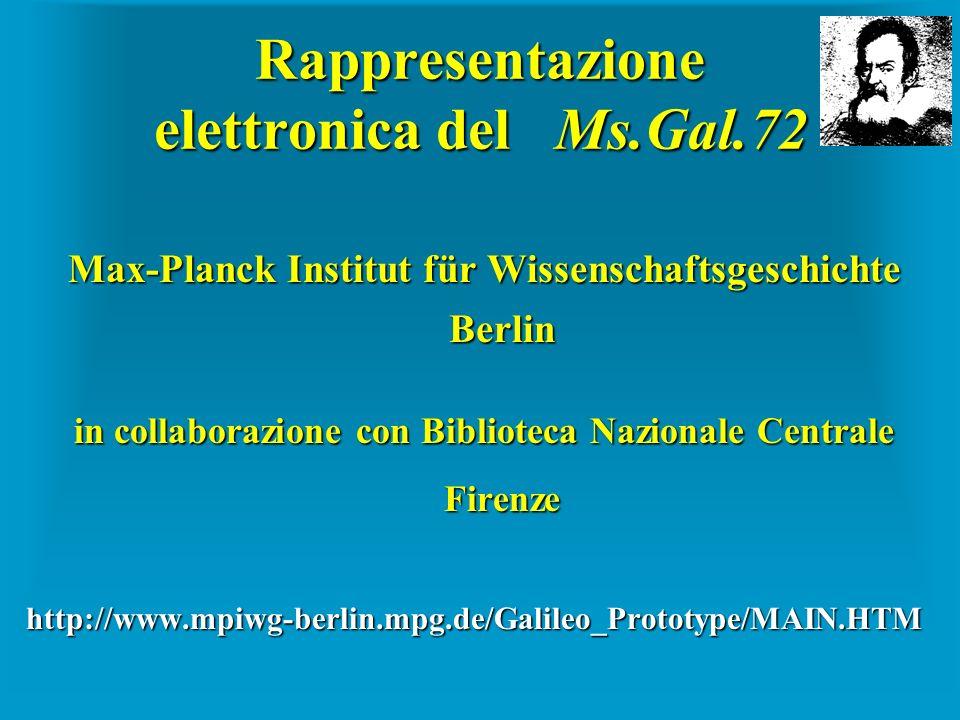 Rappresentazione elettronica del Ms.Gal.72