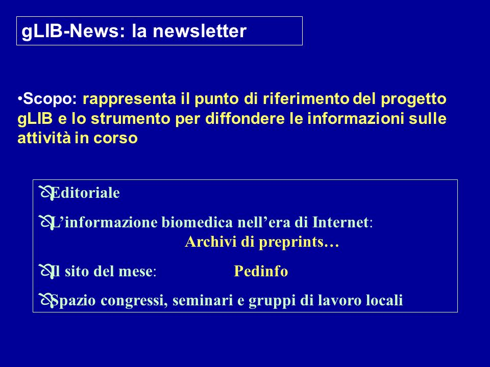 gLIB-News: la newsletter