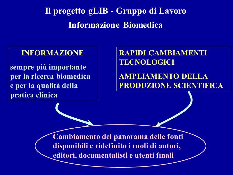 Il progetto gLIB - Gruppo di Lavoro Informazione Biomedica