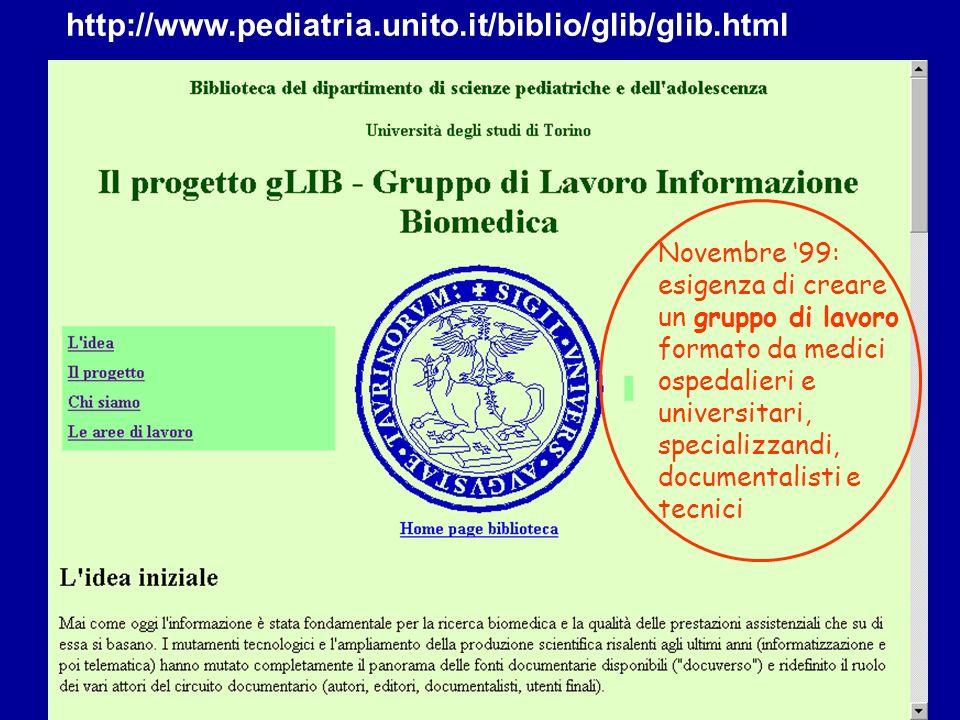http://www.pediatria.unito.it/biblio/glib/glib.html