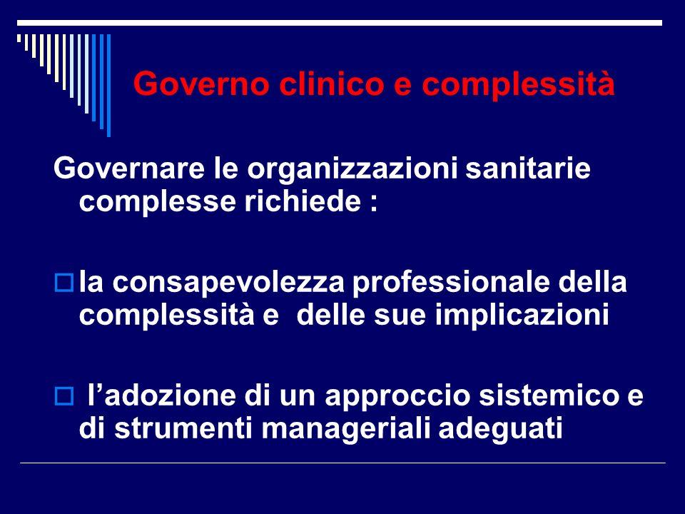 Governo clinico e complessità