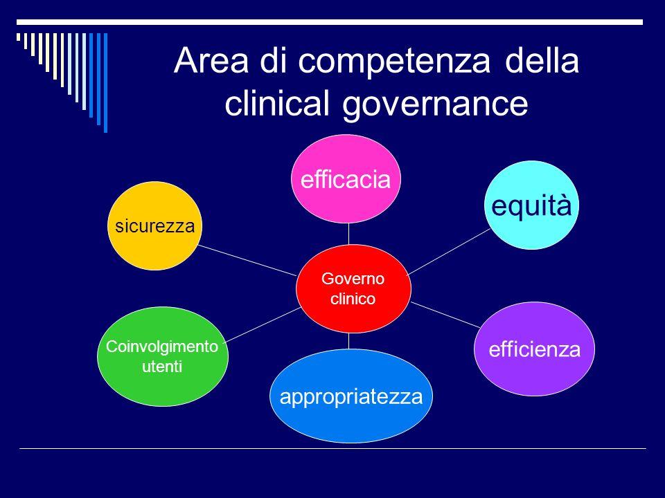 Area di competenza della clinical governance