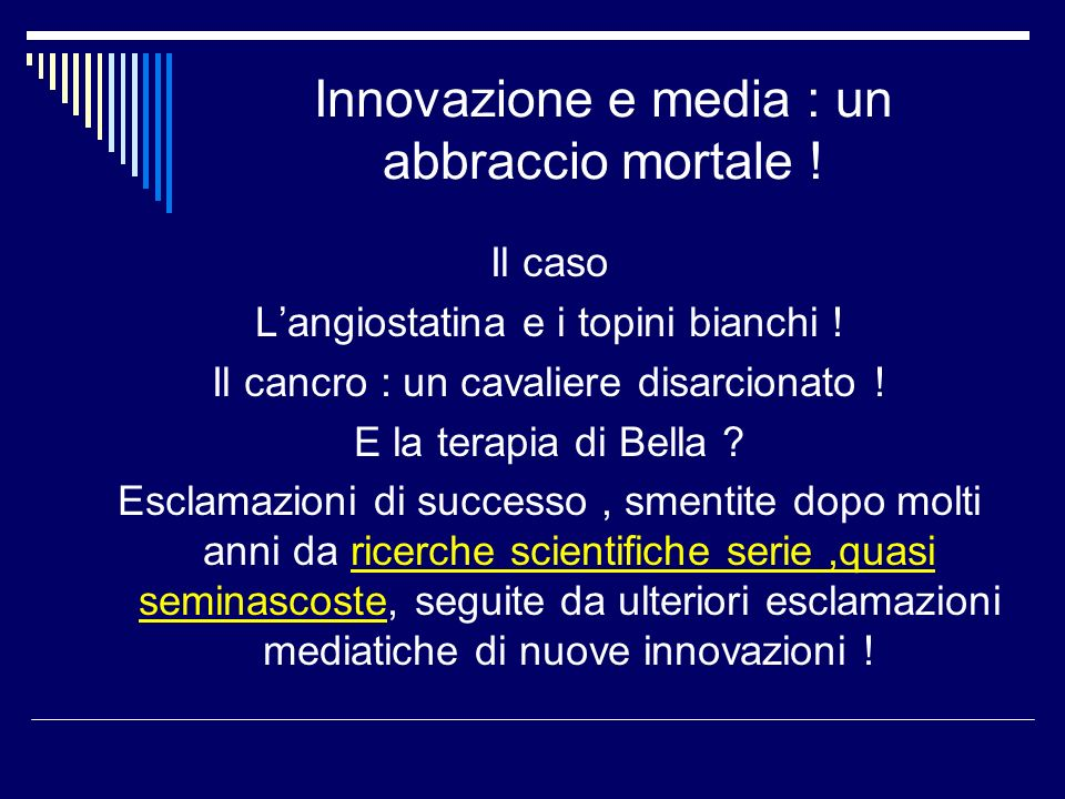 Innovazione e media : un abbraccio mortale !