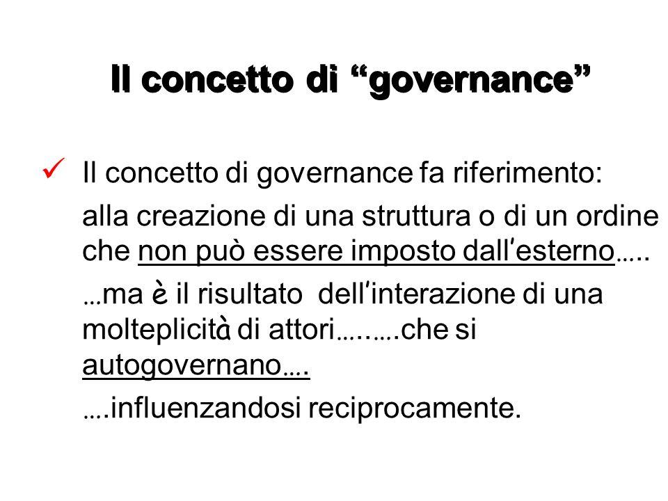 Il concetto di governance