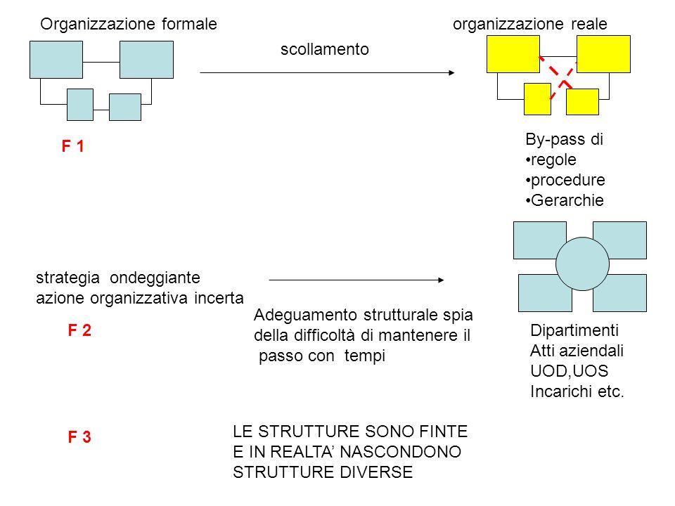 Organizzazione formale organizzazione reale