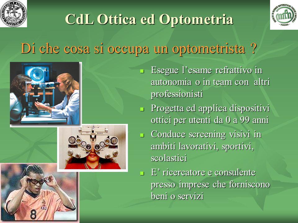 CdL Ottica ed Optometria