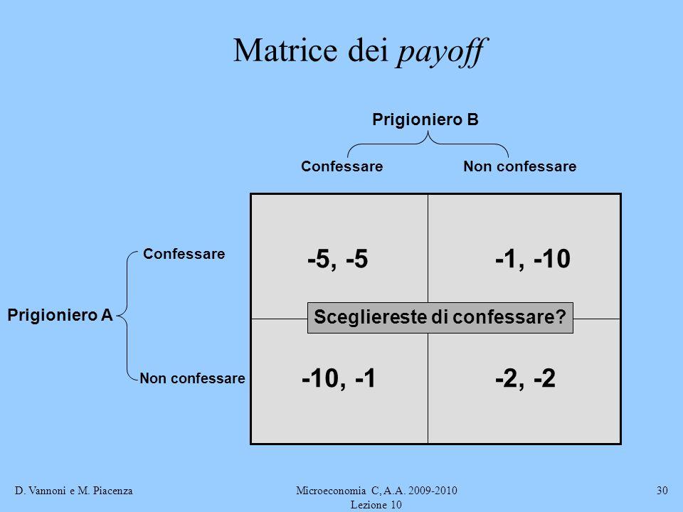 Microeconomia C, A.A. 2009-2010 Lezione 10