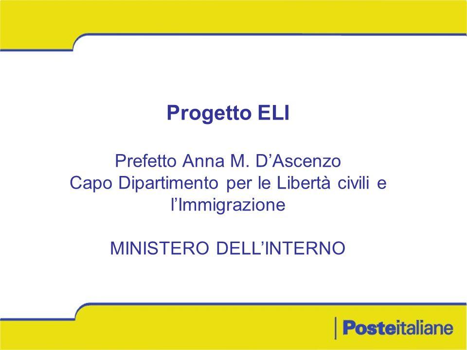 Progetto ELI Prefetto Anna M. D'Ascenzo