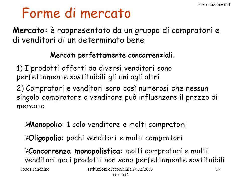 Forme di mercatoMercato: è rappresentato da un gruppo di compratori e di venditori di un determinato bene.
