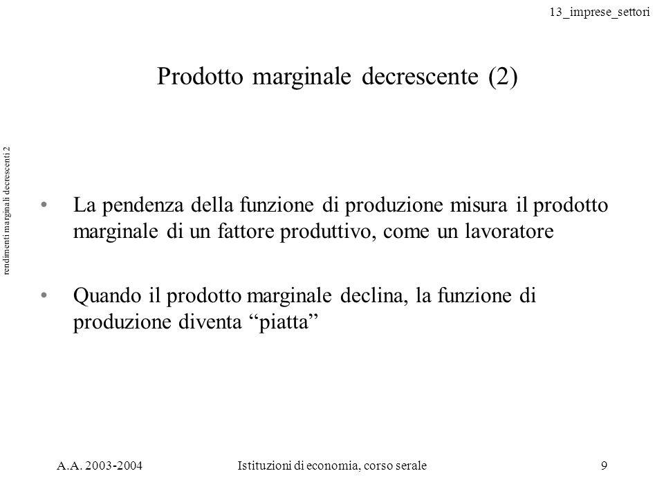 rendimenti marginali decrescenti 2