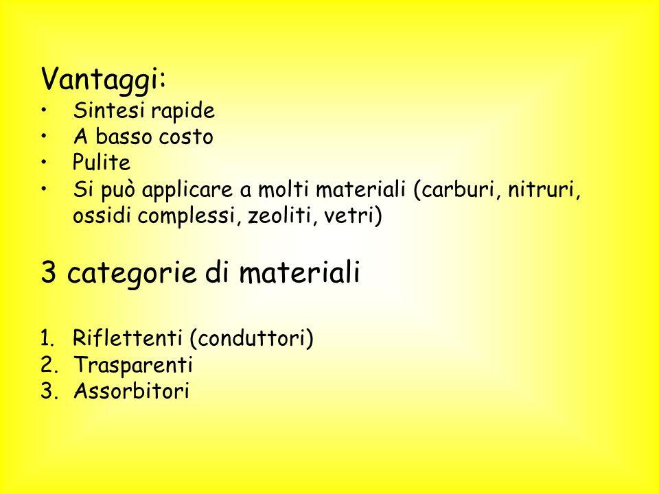 3 categorie di materiali