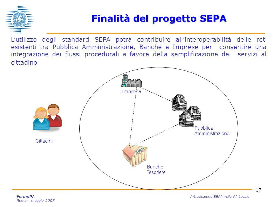 Finalità del progetto SEPA