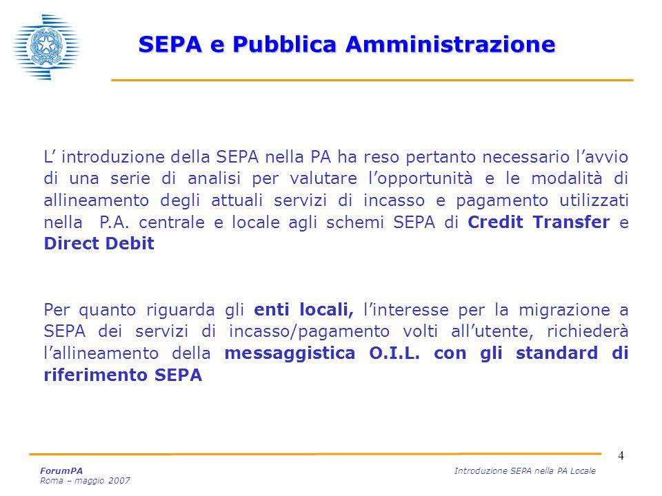 SEPA e Pubblica Amministrazione