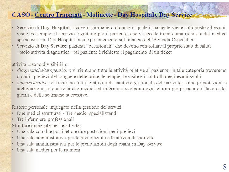 CASO - Centro Trapianti - Molinette - Day Hospital e Day Service