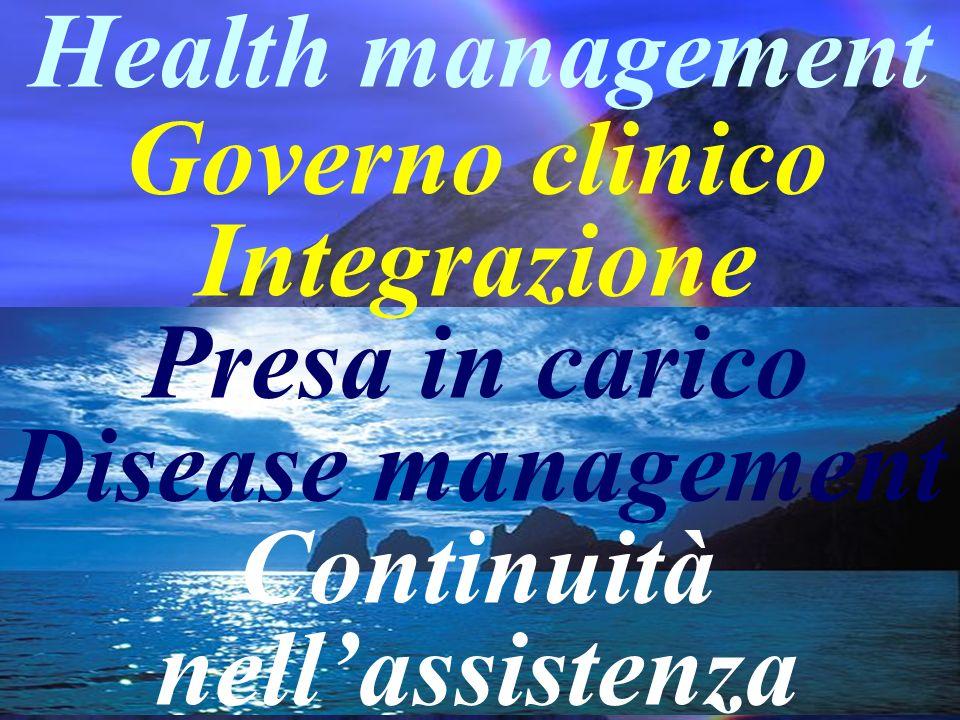 Governo clinico Integrazione Continuità nell'assistenza
