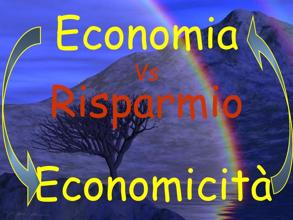 Economia Vs Risparmio Economicità