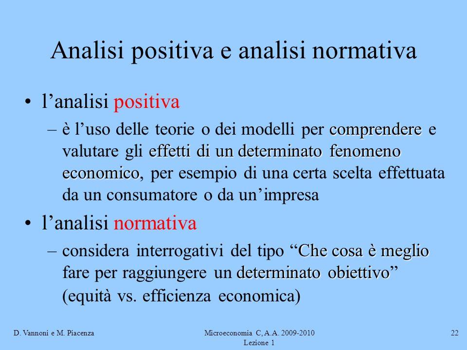 Analisi positiva e analisi normativa