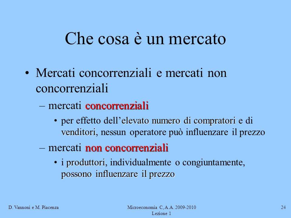 Microeconomia C, A.A. 2009-2010 Lezione 1