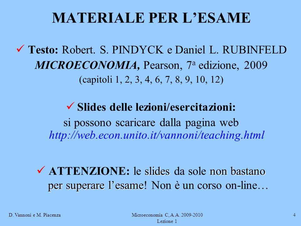Slides delle lezioni/esercitazioni: