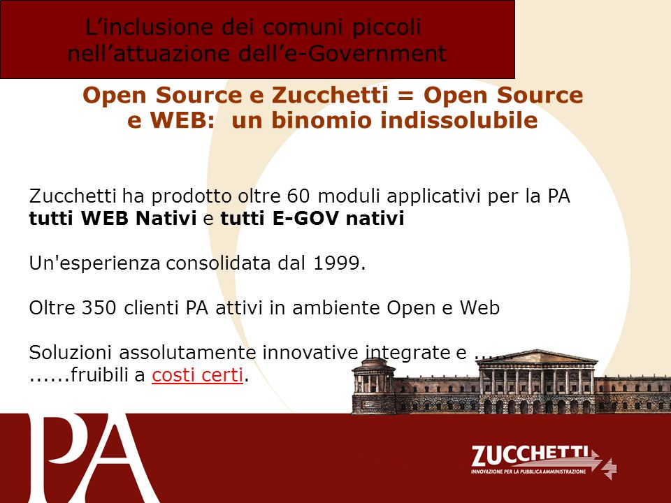Open Source e Zucchetti = Open Source e WEB: un binomio indissolubile