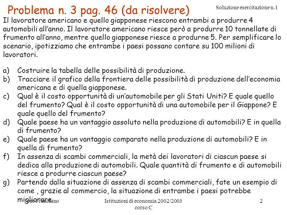 Problema n. 3 pag. 46 (da risolvere)