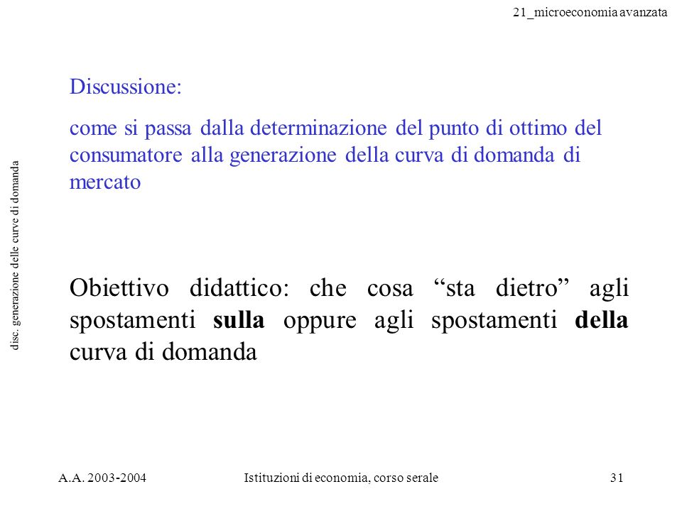 disc. generazione delle curve di domanda