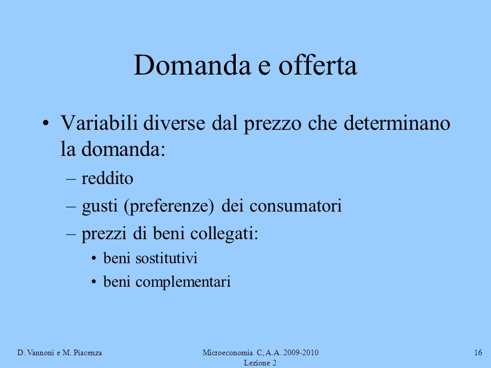 Microeconomia C, A.A. 2009-2010 Lezione 2