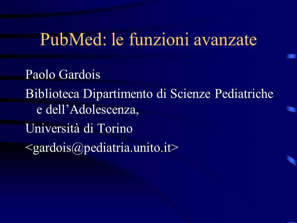 PubMed: le funzioni avanzate
