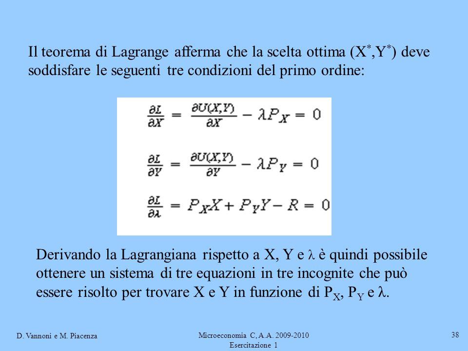 Microeconomia C, A.A. 2009-2010 Esercitazione 1