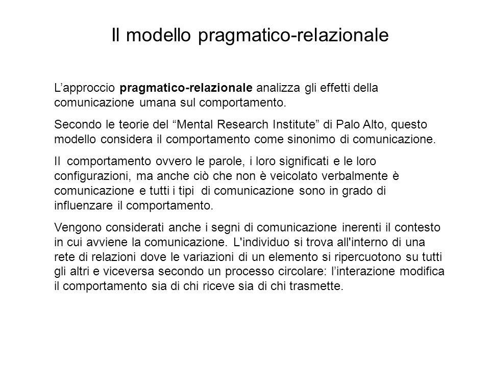 Il modello pragmatico-relazionale