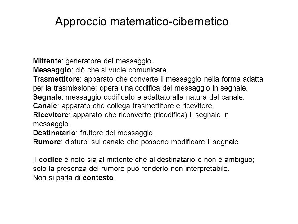 Approccio matematico-cibernetico,