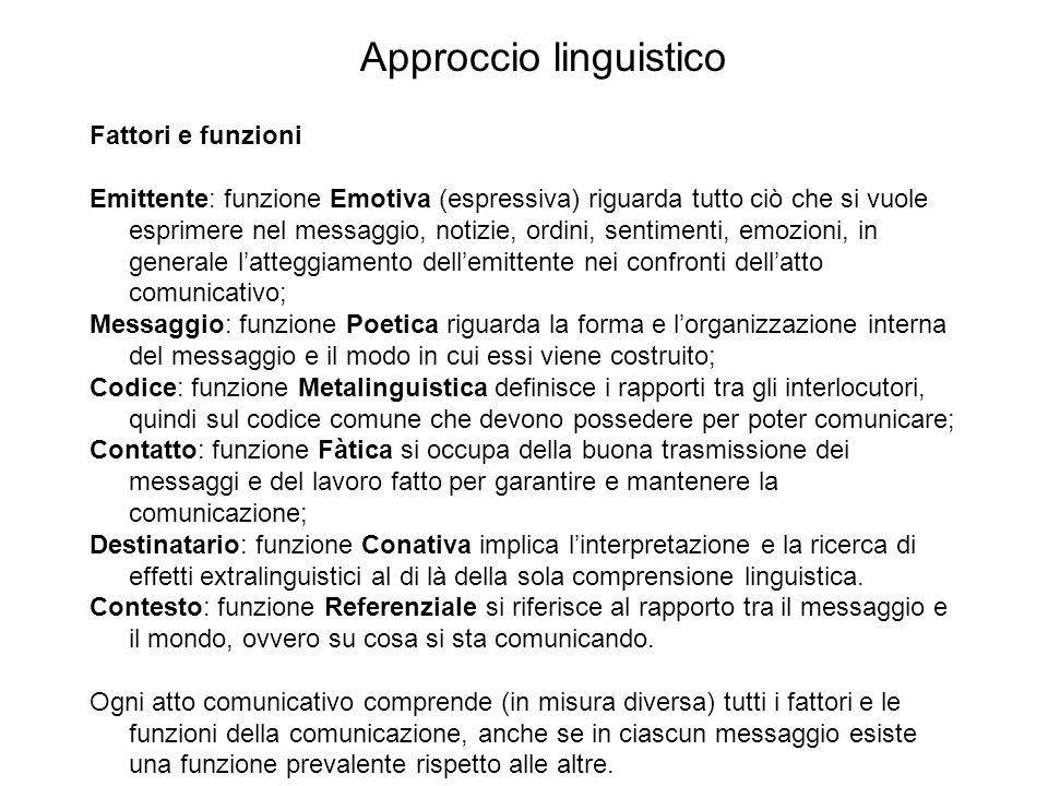 Approccio linguistico