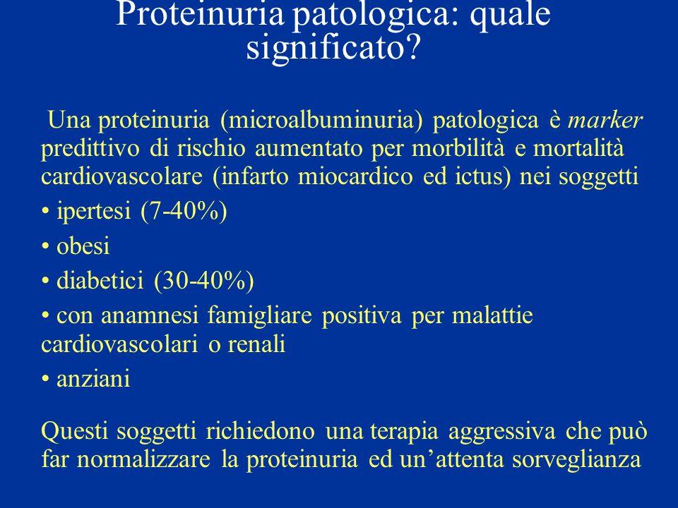 Proteinuria patologica: quale significato