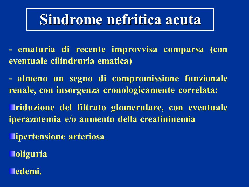Sindrome nefritica acuta