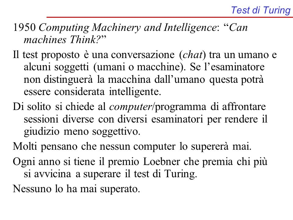 1950 Computing Machinery and Intelligence: Can machines Think
