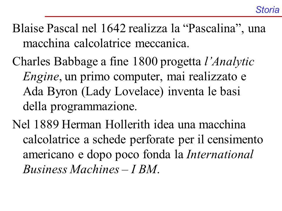 Storia Blaise Pascal nel 1642 realizza la Pascalina , una macchina calcolatrice meccanica.
