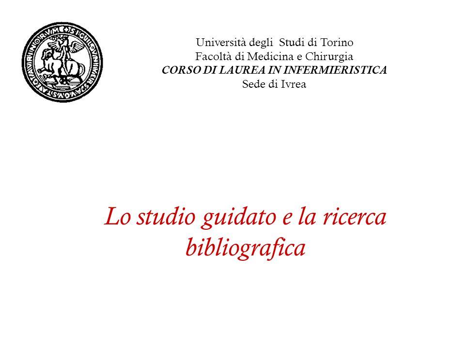 Lo studio guidato e la ricerca bibliografica