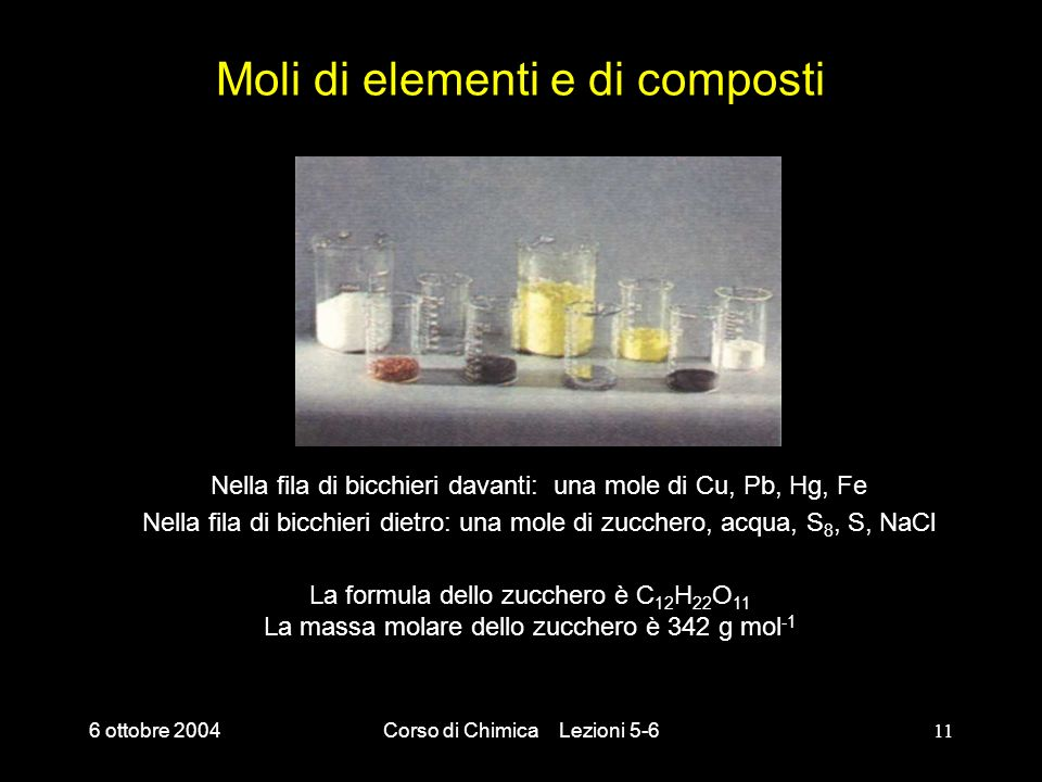Moli di elementi e di composti