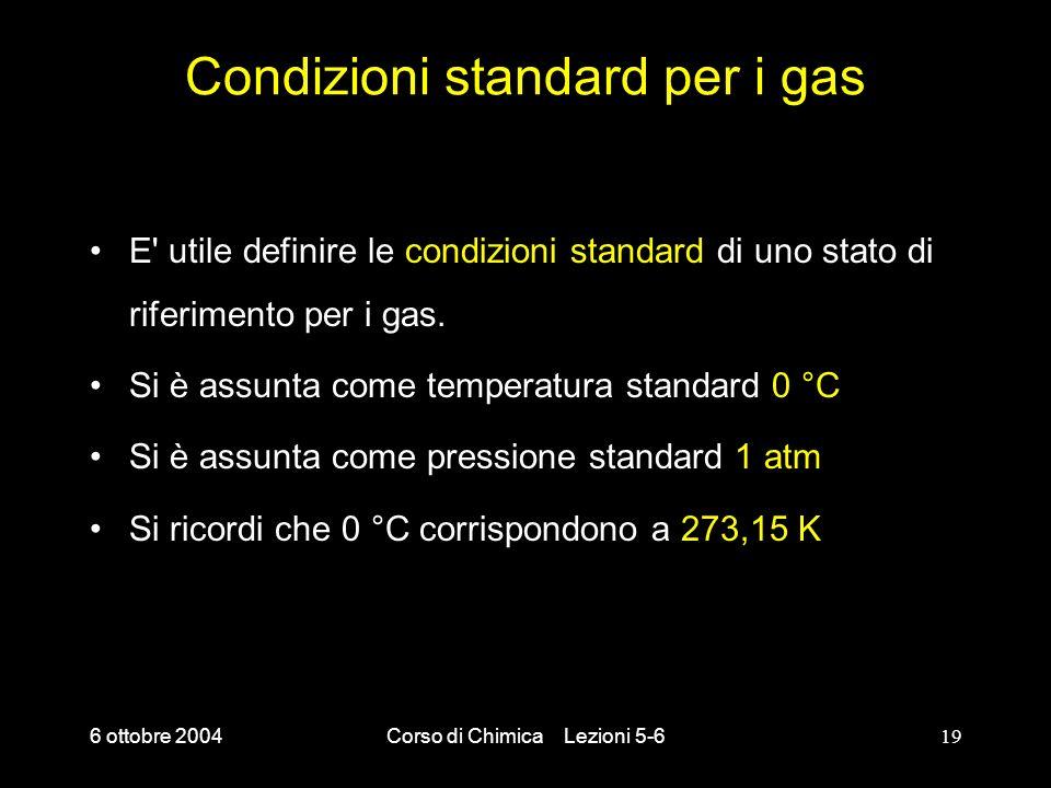 Condizioni standard per i gas