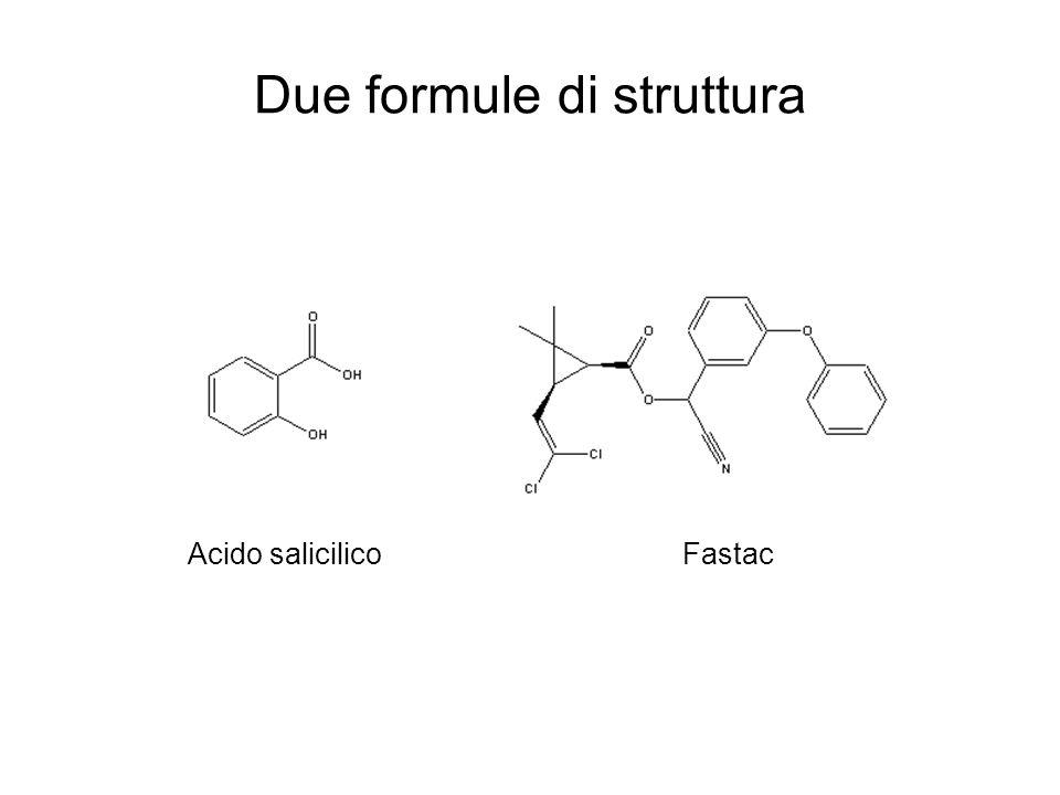 Due formule di struttura