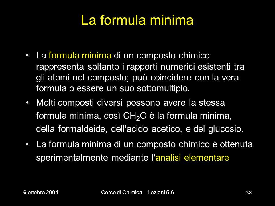 Corso di Chimica Lezioni 5-6